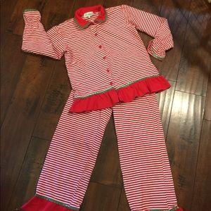Be Mine 2pc Christmas Holiday Pajama Set sz 10